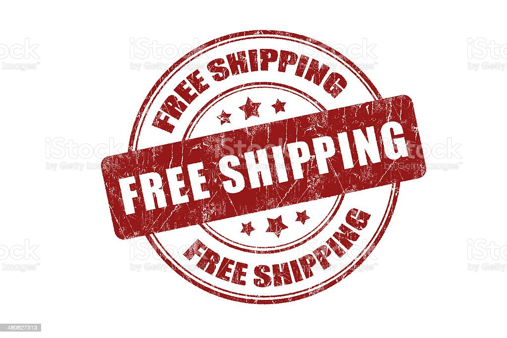 Free shipping Rubber Stamp royalty-free stock photo
