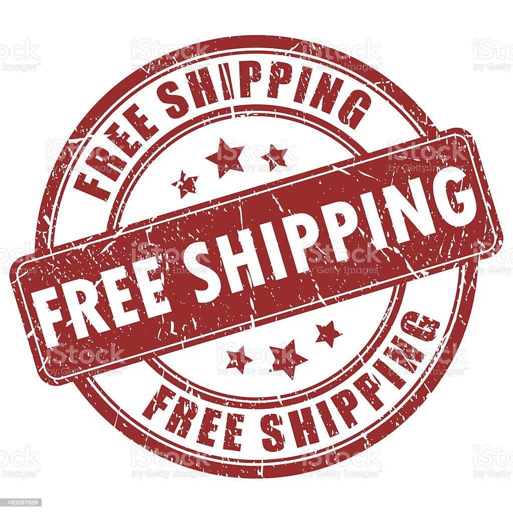 Free shipping stamp stock photo