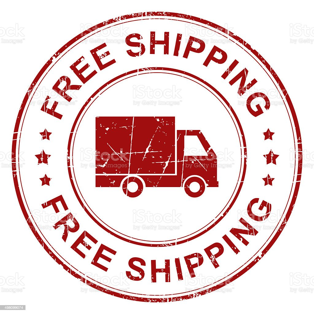 Free shipping stamp vector art illustration