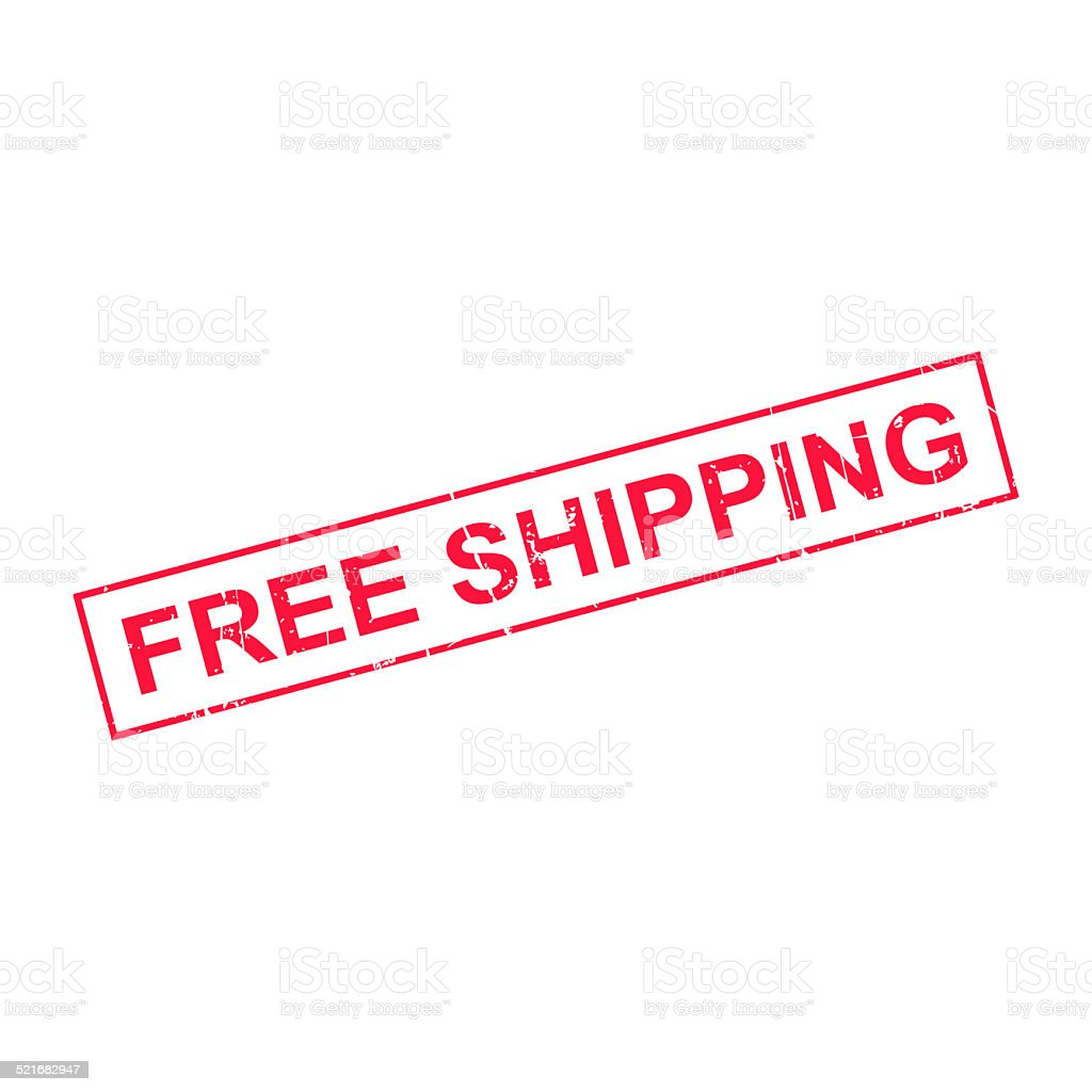 Free shipping - stamp stock photo