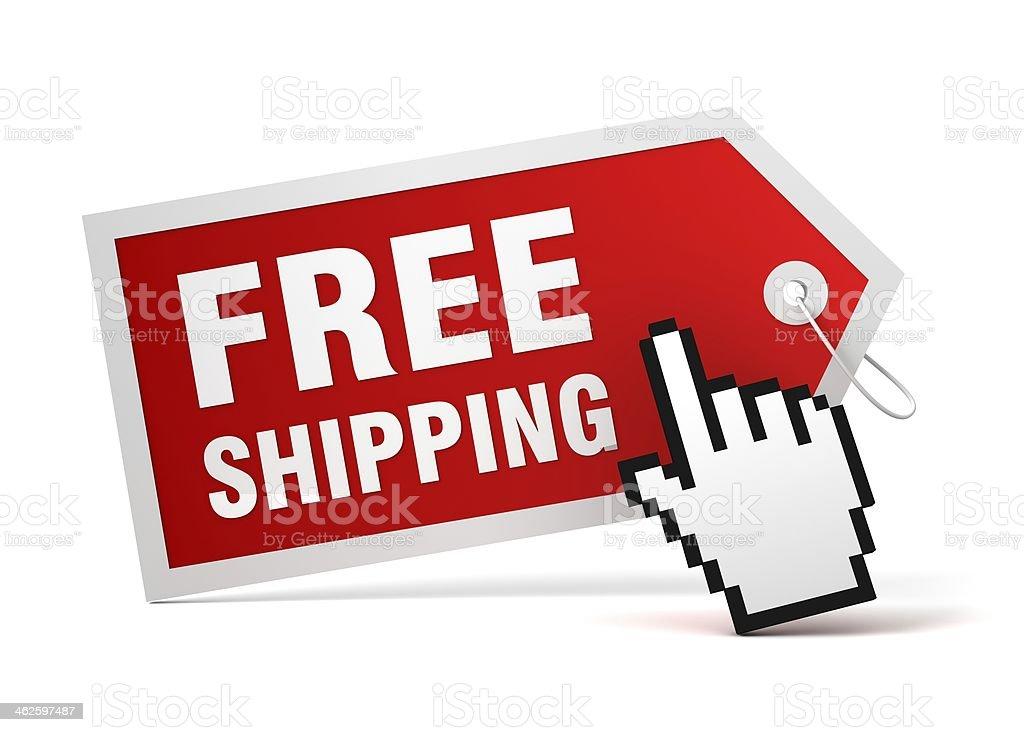 free shipping tag royalty-free stock photo