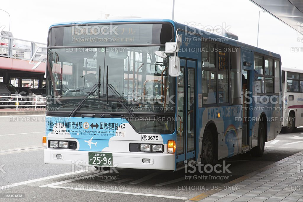 Free Shuttle Bus in Fukuoka Airport royalty-free stock photo