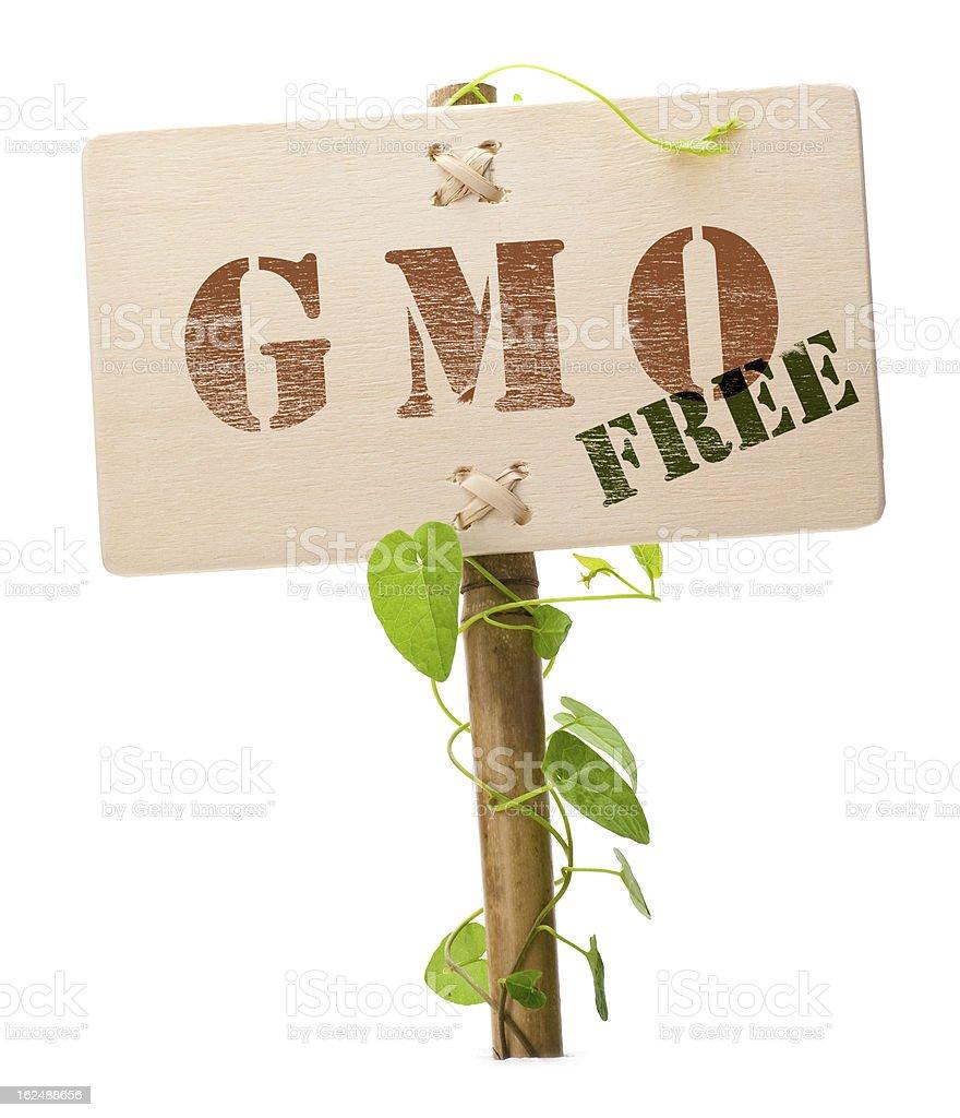 GMO free sign stock photo