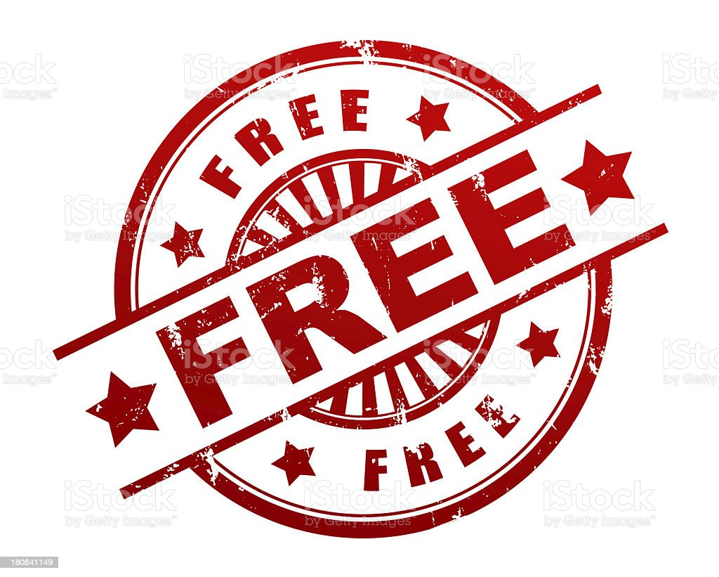 free stamp royalty-free stock photo