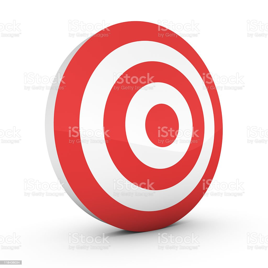 A free standing, big Target sign isolated on white stock photo