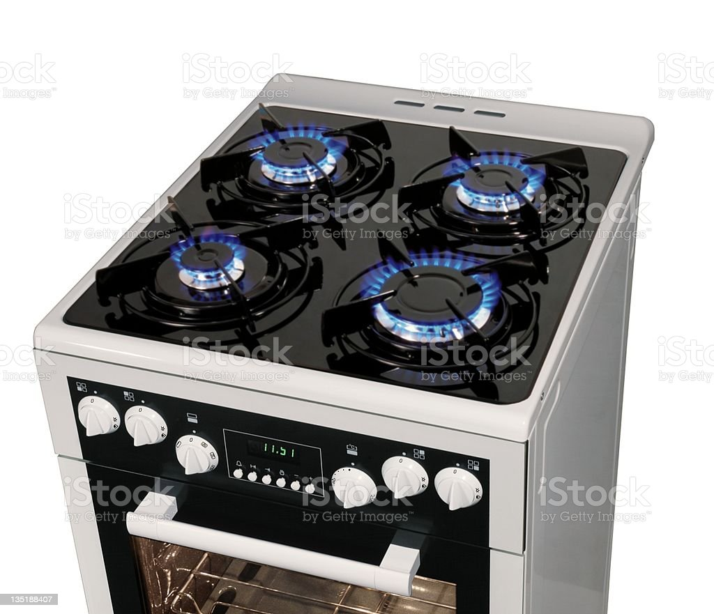 Free standing cooker stock photo