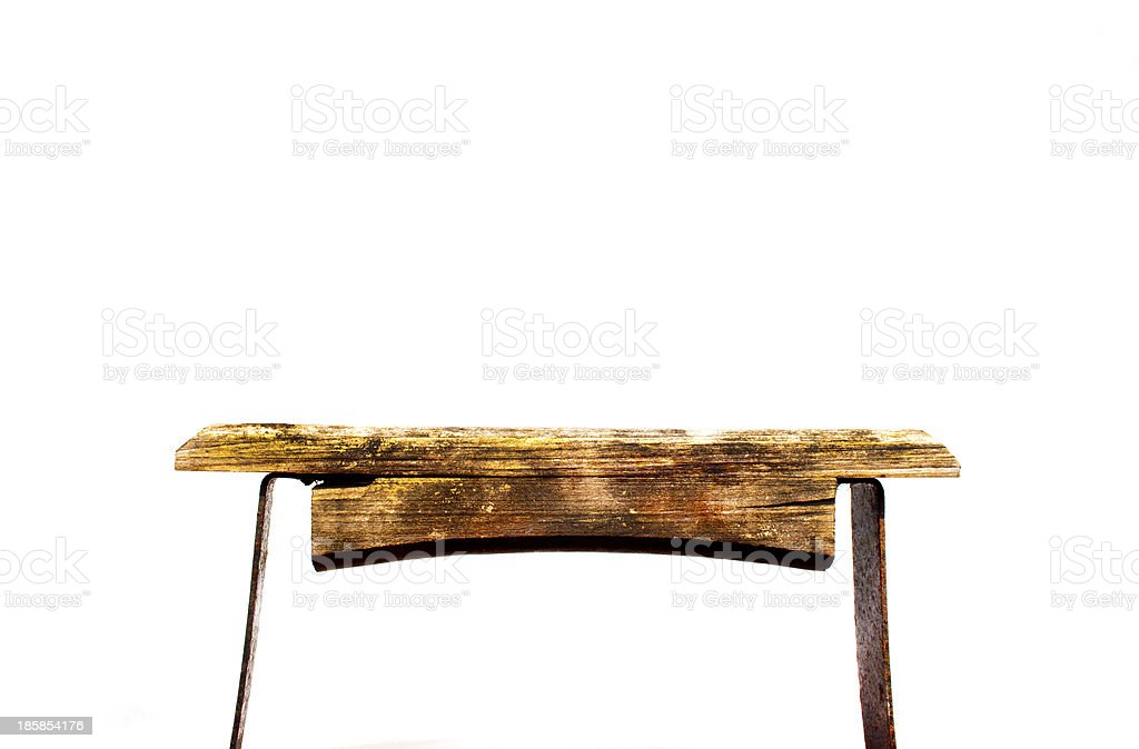 Free Standng Wooden Shelf royalty-free stock photo