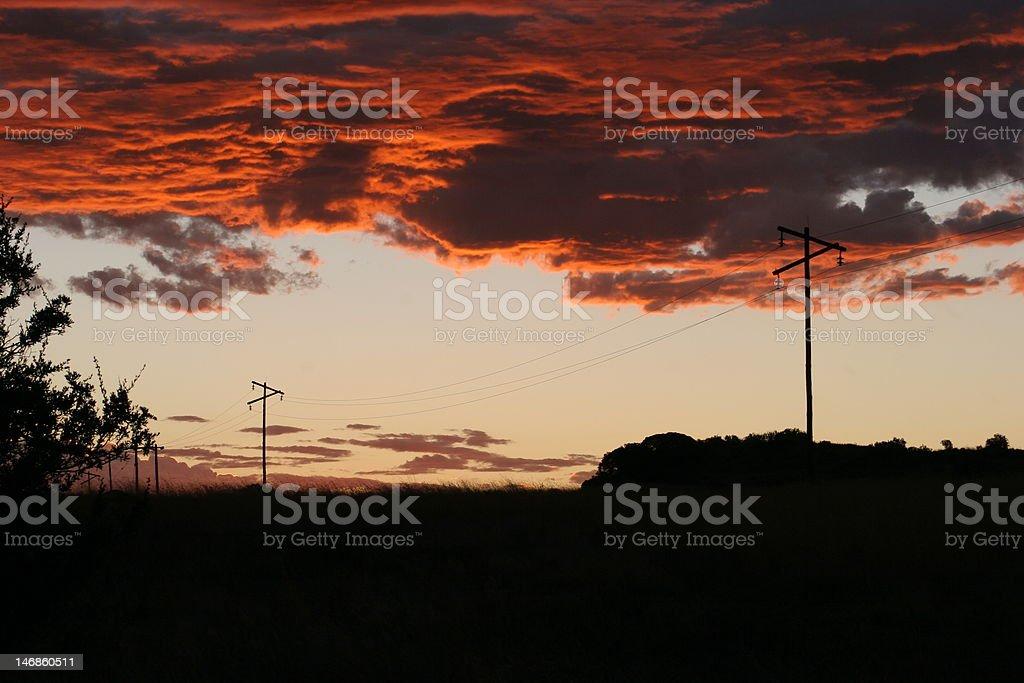 Free State dusk royalty-free stock photo