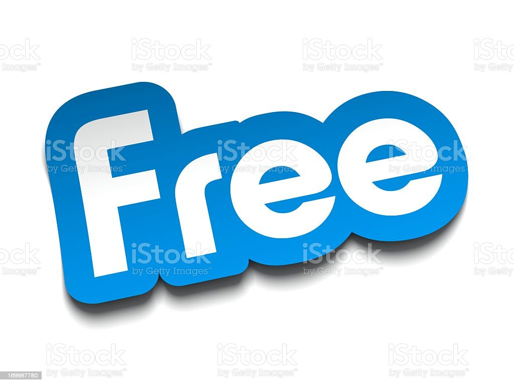 Free sticker label royalty-free stock photo