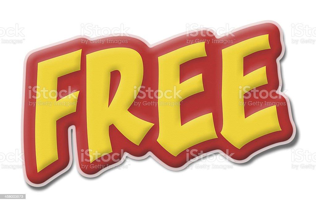 Free sticker label royalty-free stock photo