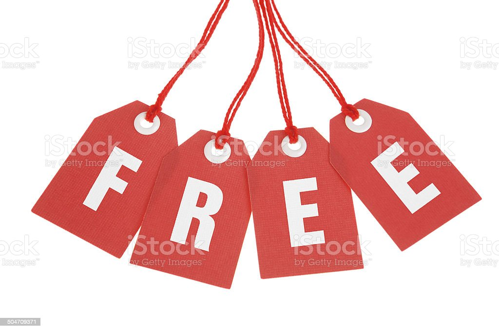 Free - Stock Image of Isolated Red Tags royalty-free stock photo