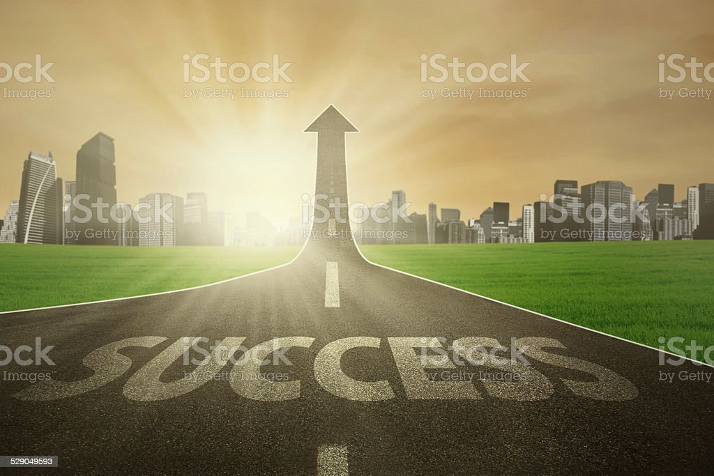 Free street to success in future stock photo