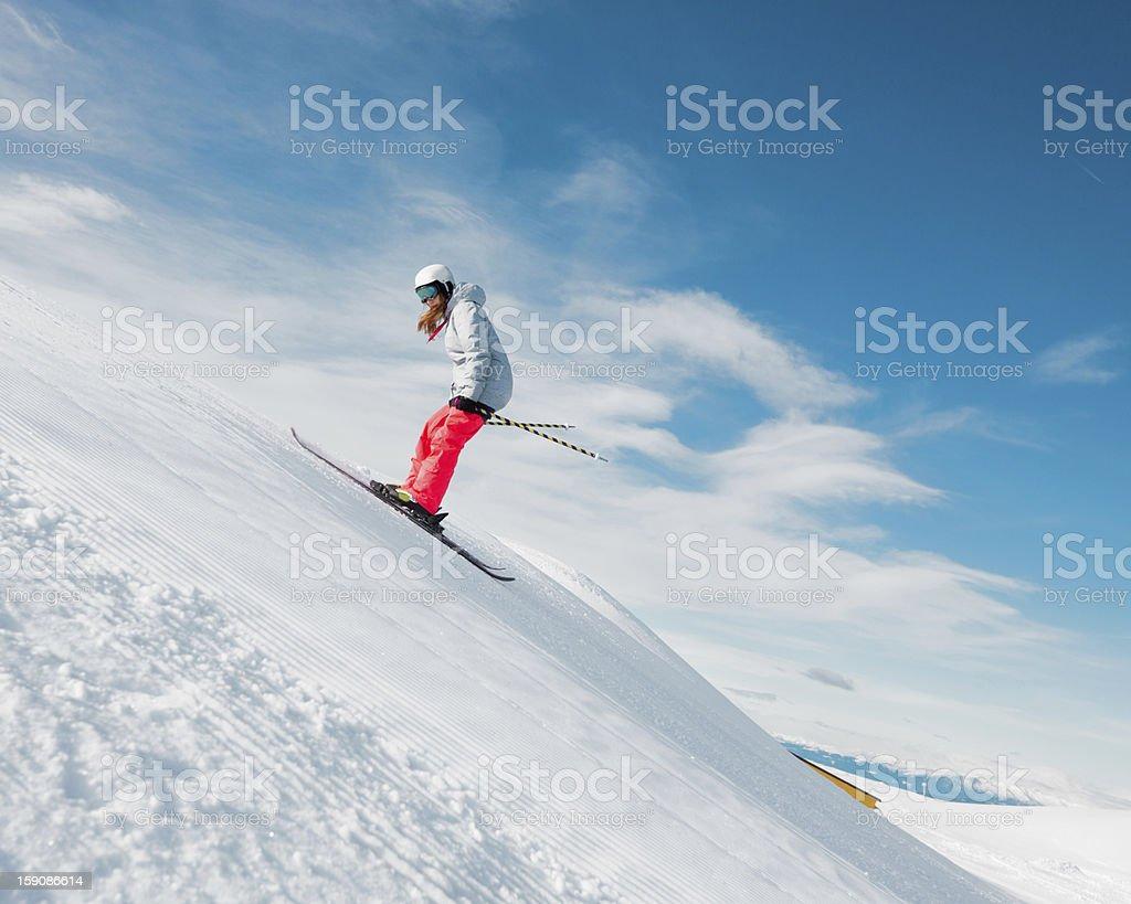 Free style skier stock photo