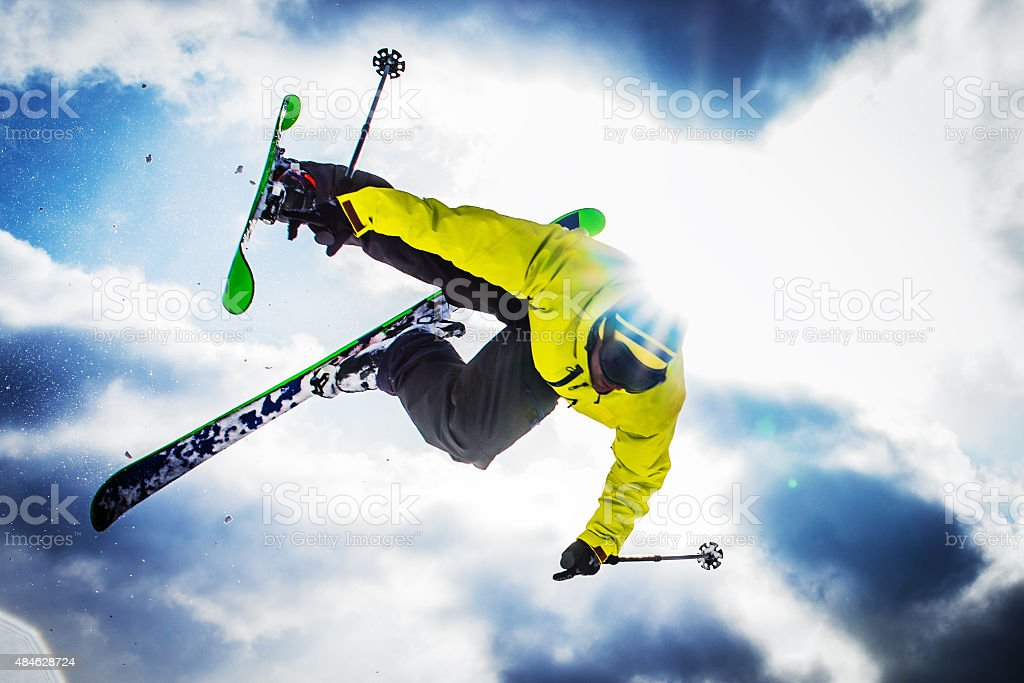 Free Style Skiing stock photo