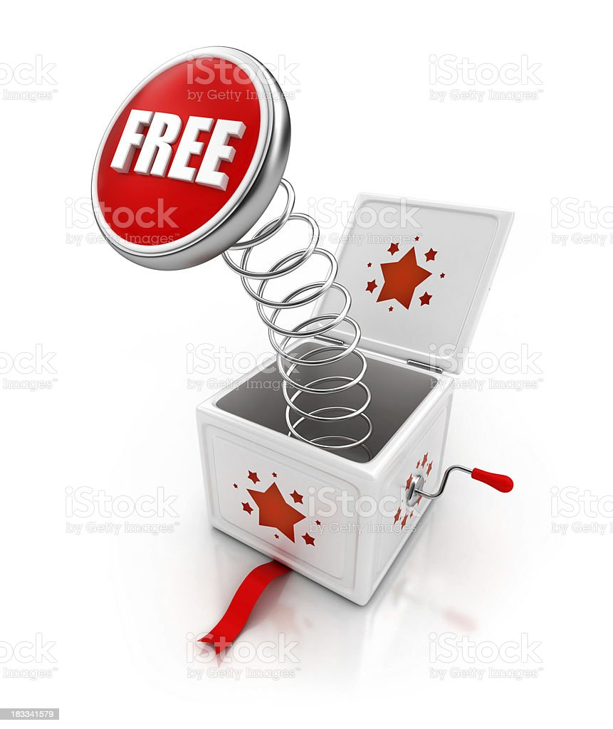free surprise gift royalty-free stock photo