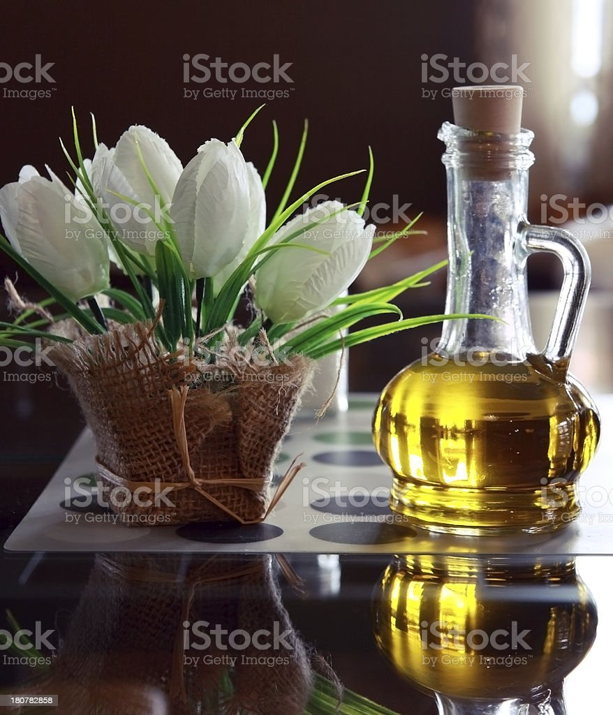 Free table in the cozy cafe. royalty-free stock photo