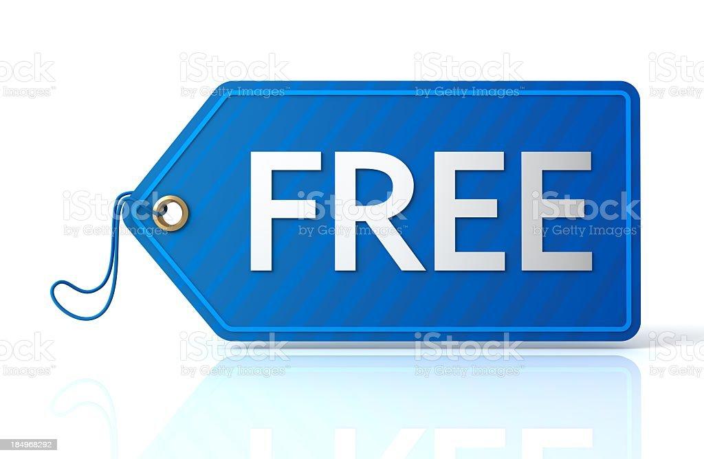 Free tag royalty-free stock photo