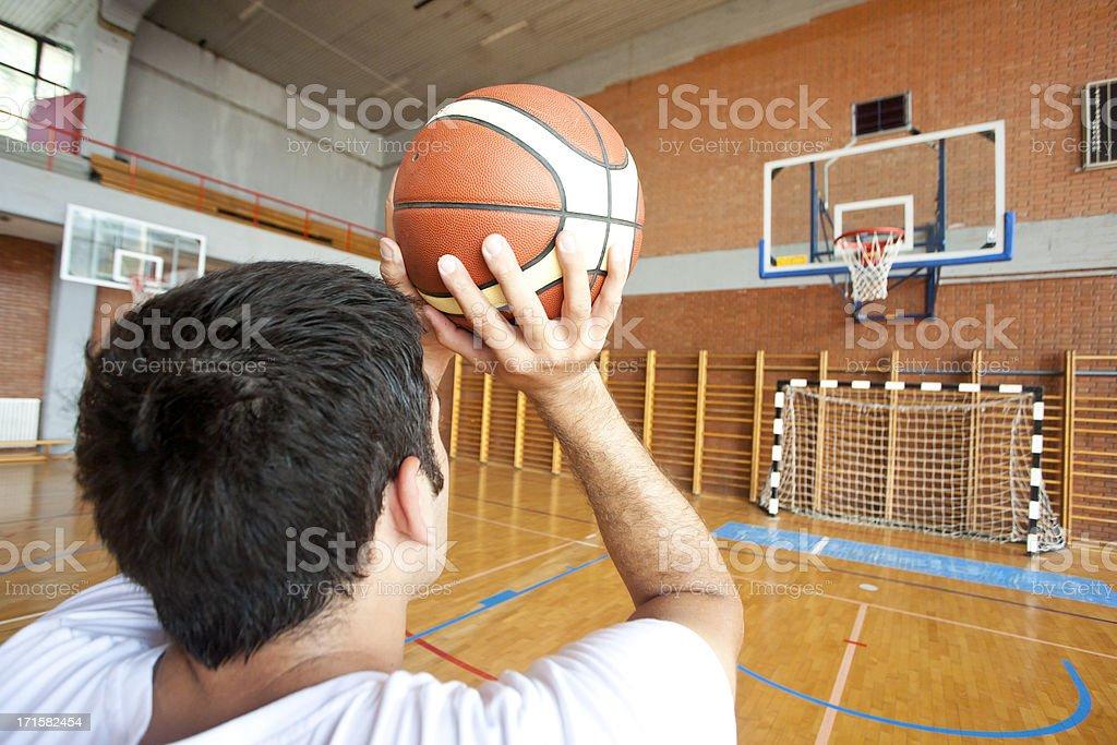 Free throw stock photo