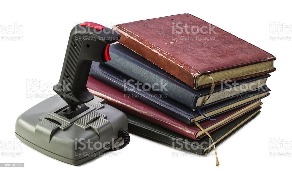 Free Time Activities. Reading or Playing royalty-free stock photo