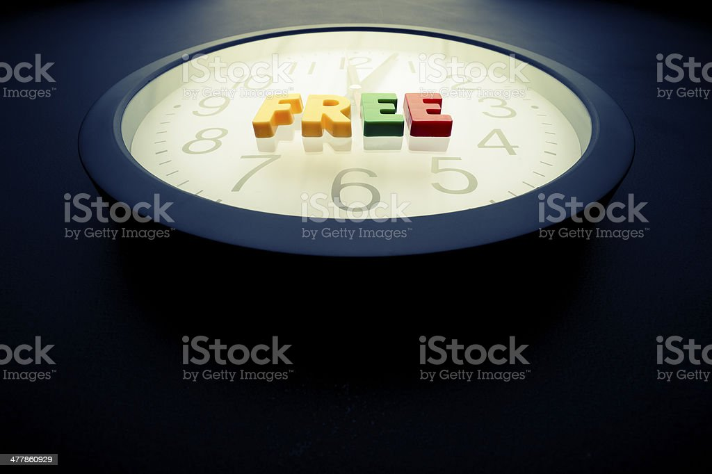 Free time concept royalty-free stock photo