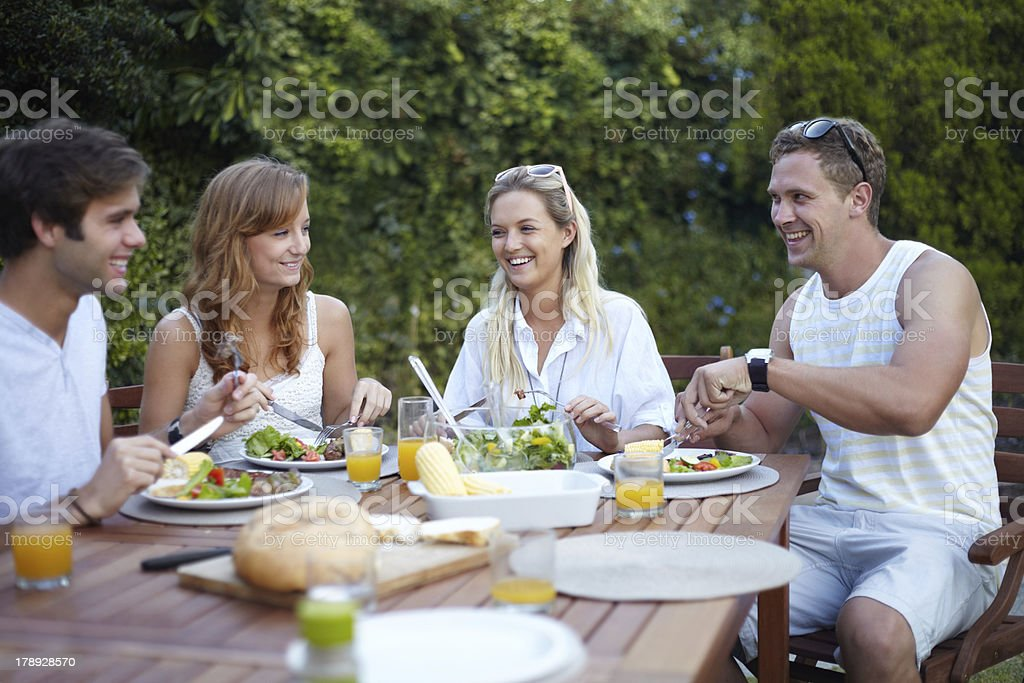Free to be ourselves when we're together royalty-free stock photo