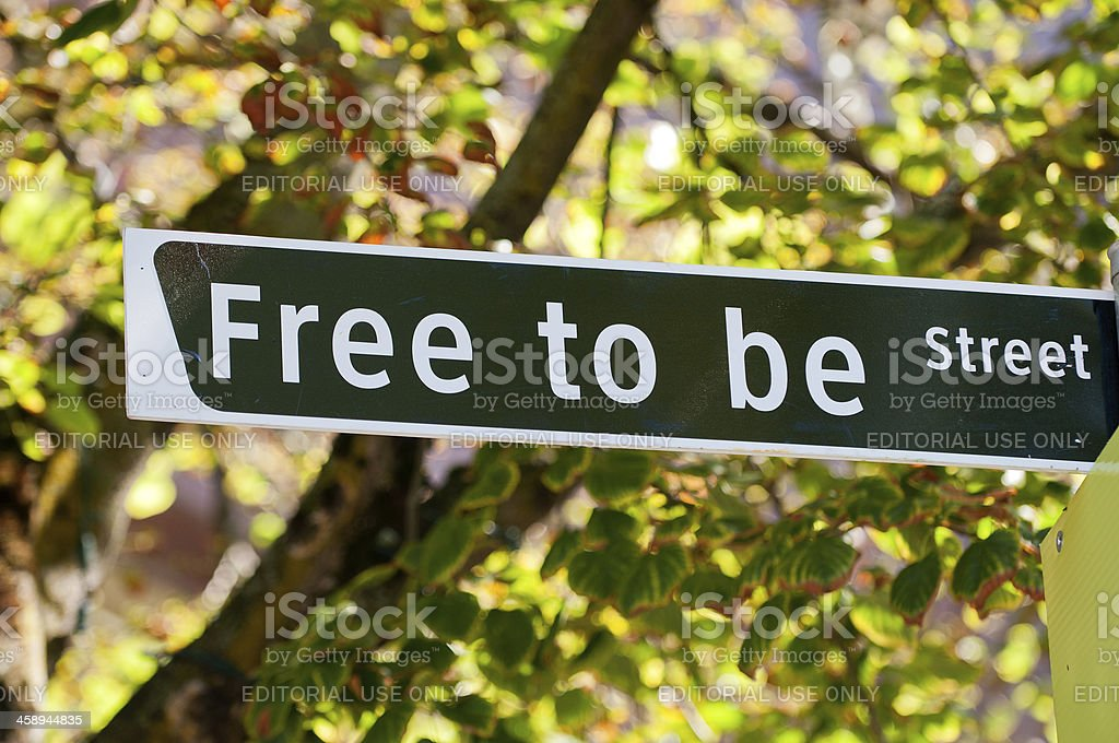 Free to be Street royalty-free stock photo