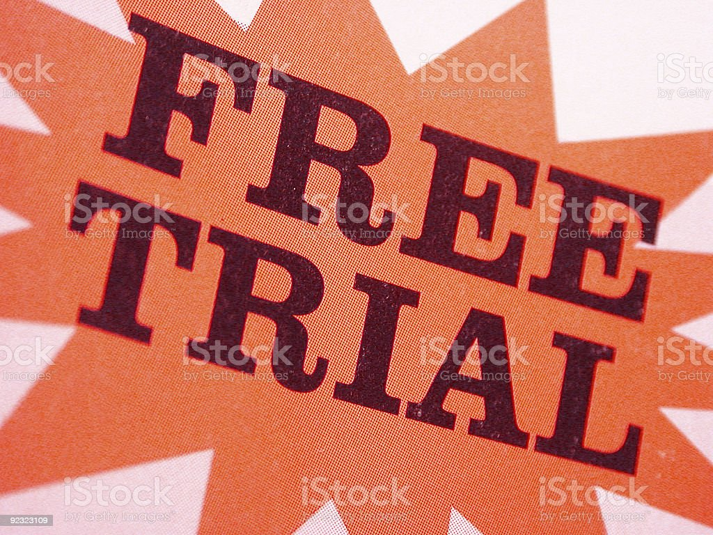 free trial royalty-free stock photo