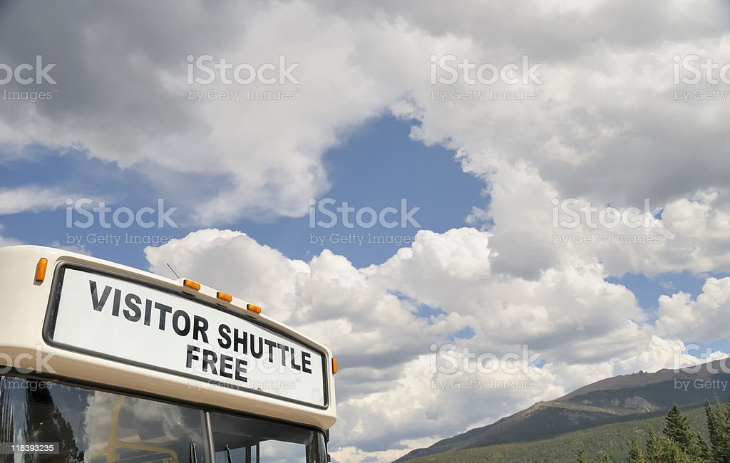 Free Visitor Shuttle stock photo