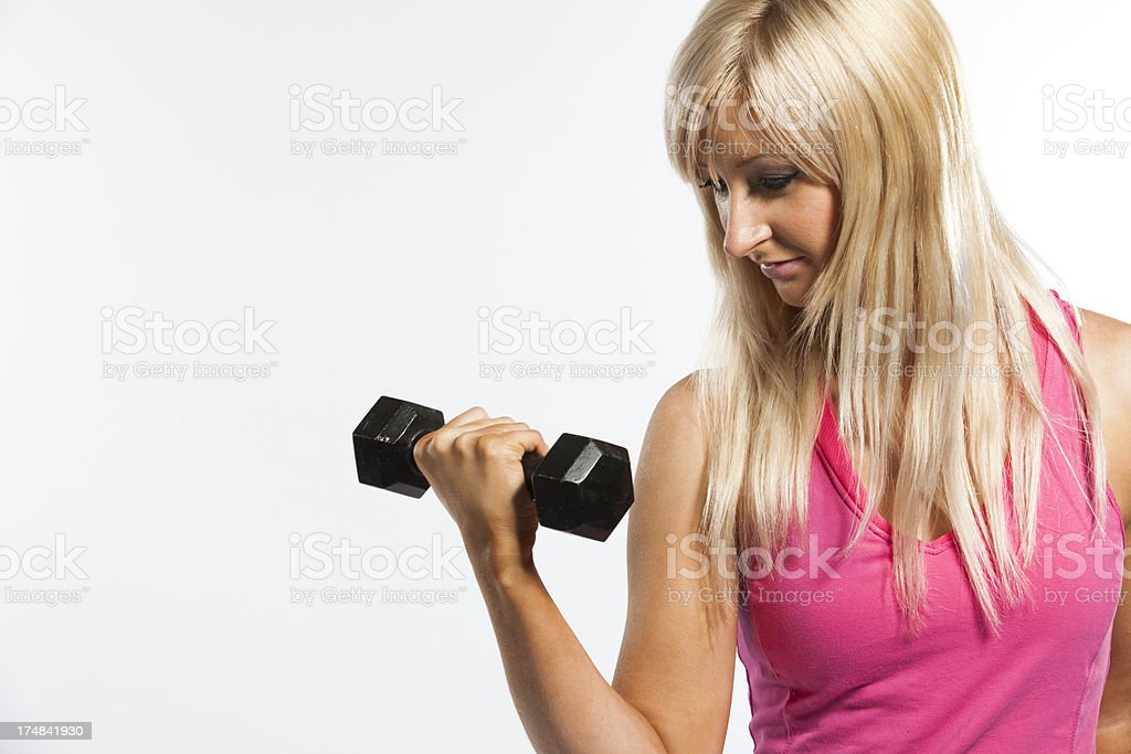 free weight fitness girl portrait royalty-free stock photo