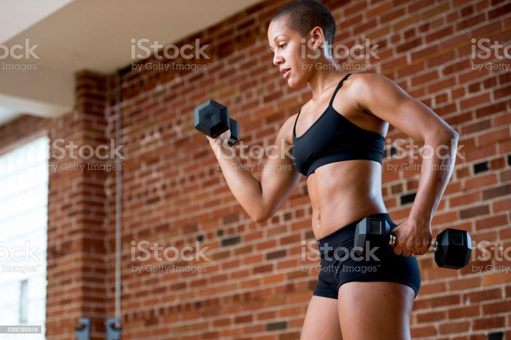 Free Weight Workout stock photo
