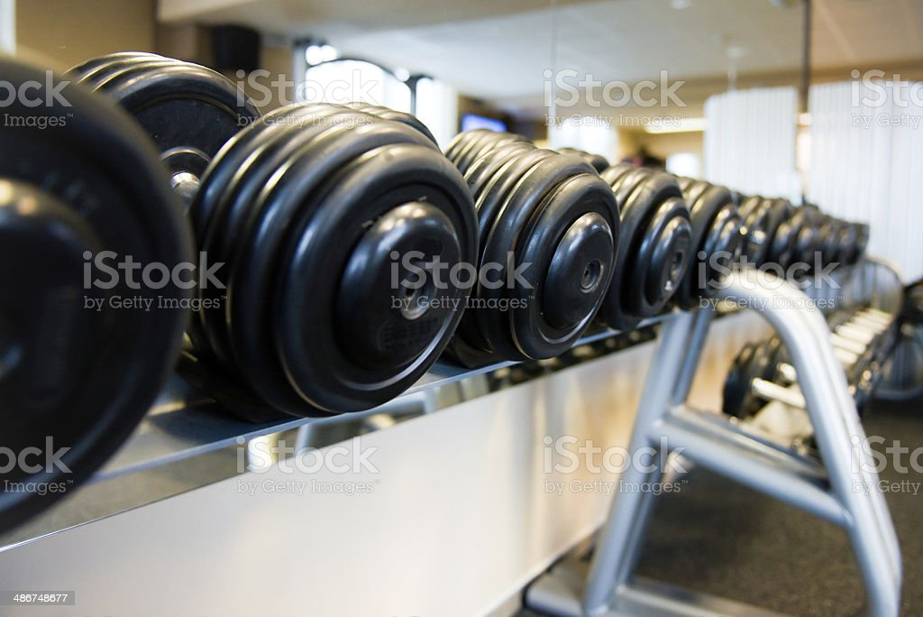 Free Weights / Dumbells stock photo