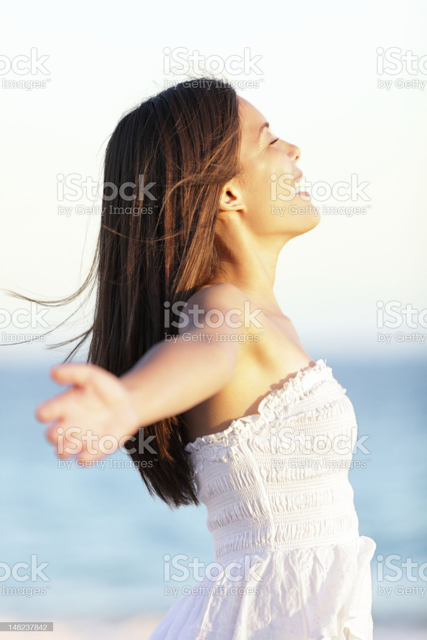 Free woman - freedom concept royalty-free stock photo