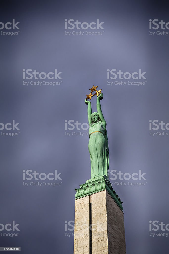 Freedeom monument Riga royalty-free stock photo