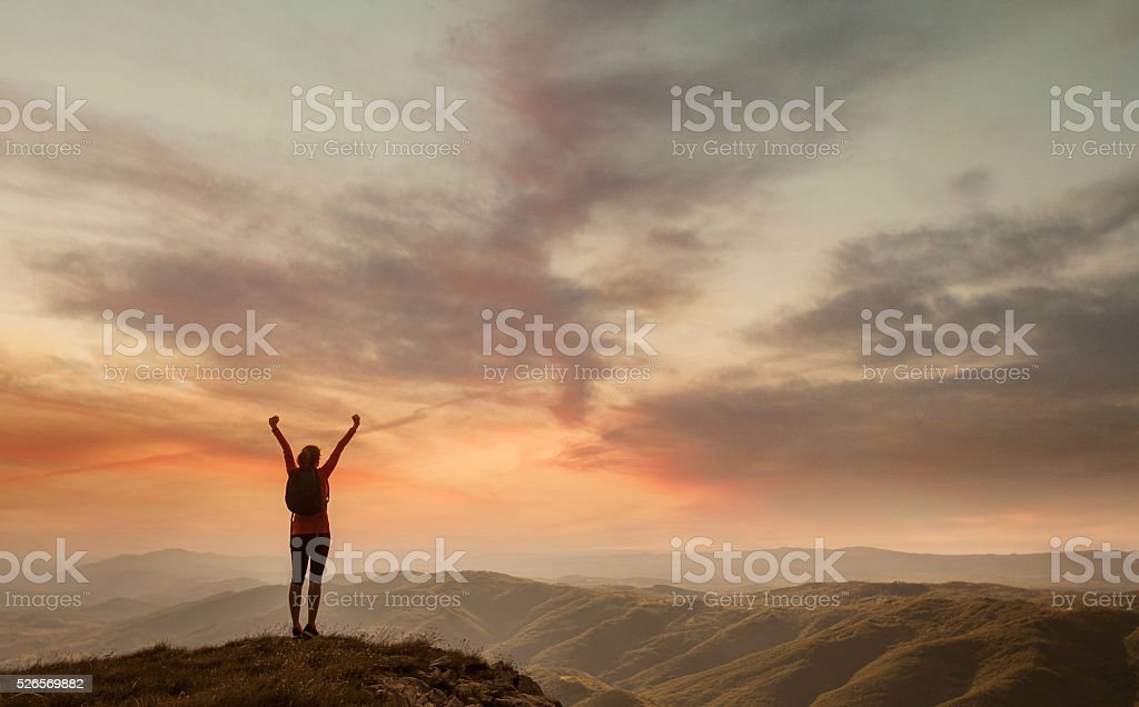 Freedom and adventure in nature royalty-free stock photo