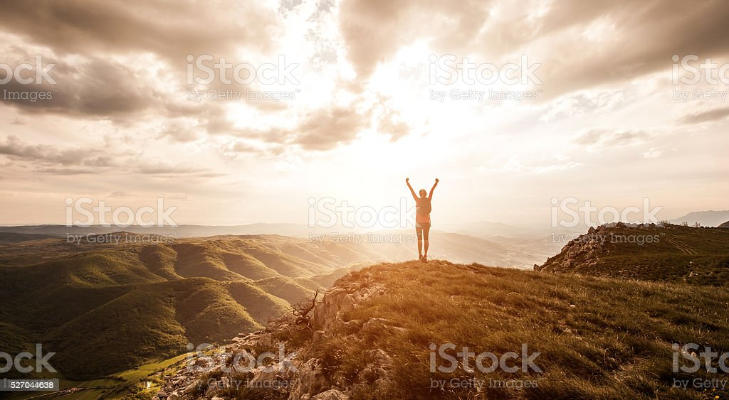Freedom and adventure in nature stock photo