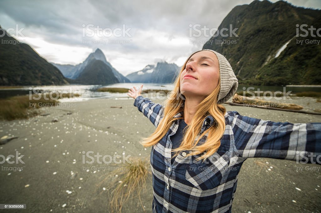 Freedom and positive emotions stock photo