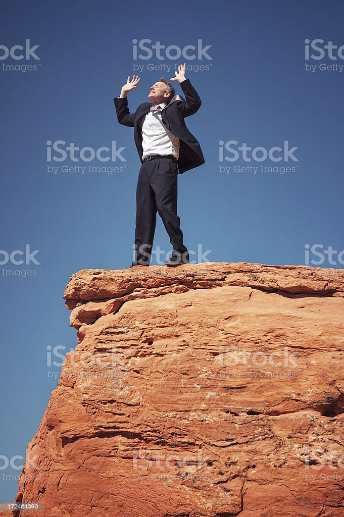 Freedom at the Top royalty-free stock photo