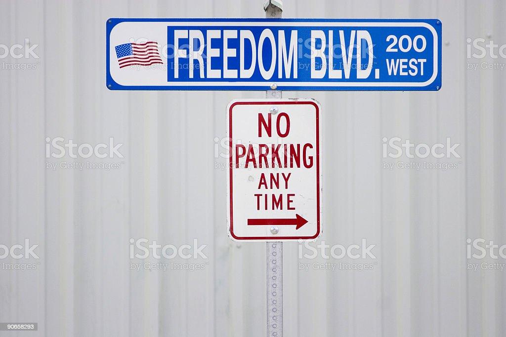 Freedom BLVD. stock photo