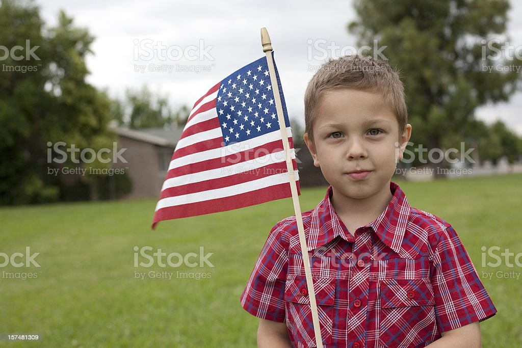 Freedom boy royalty-free stock photo