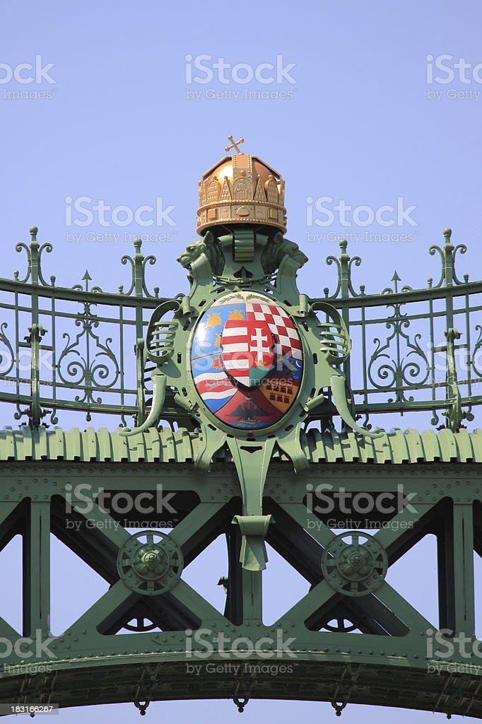 Freedom Bridge in Budapest royalty-free stock photo