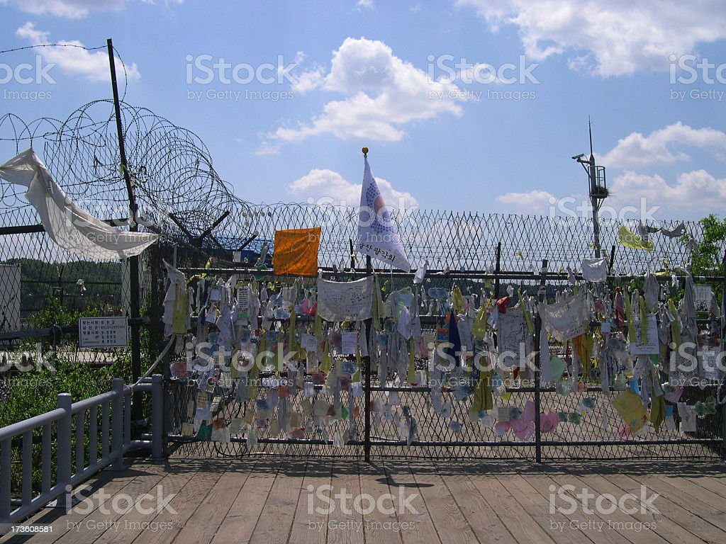 DMZ Freedom Bridge stock photo