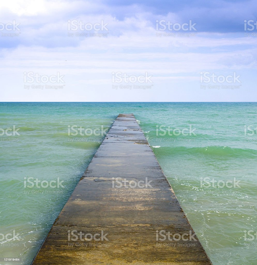 freedom - empty jetty royalty-free stock photo