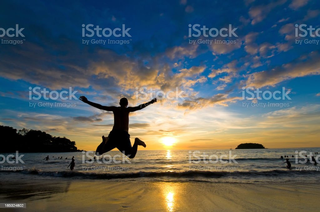 Freedom Flying on the Beach royalty-free stock photo