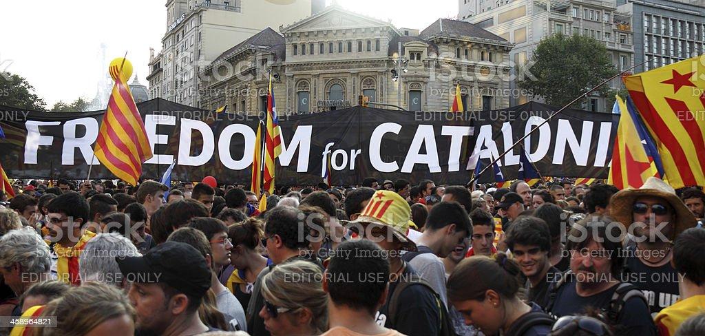 Freedom for Catalonia stock photo
