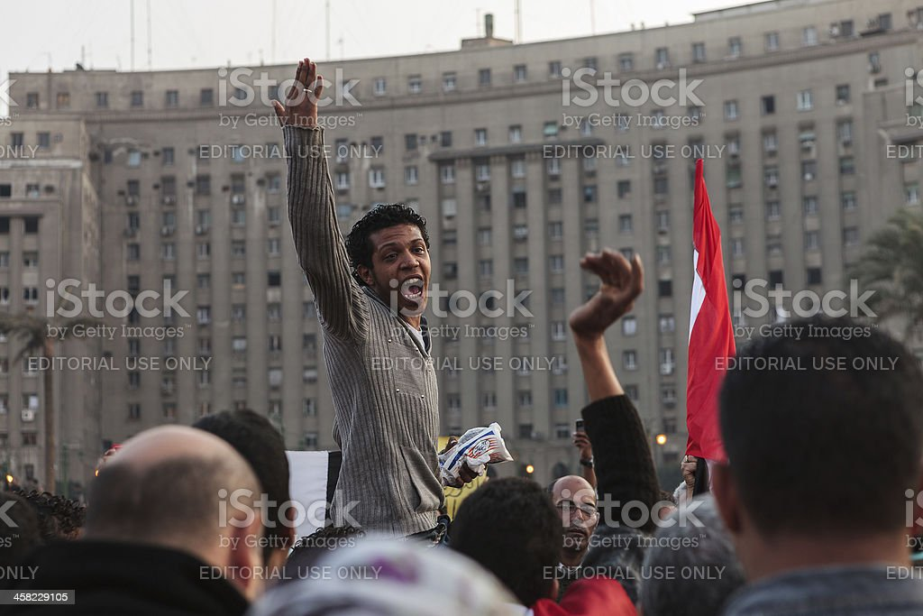Freedom for Egypt stock photo