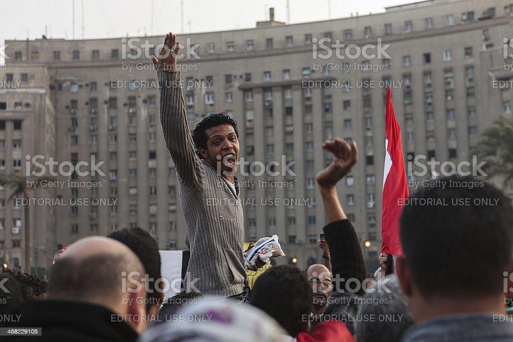 Freedom for Egypt stock photo
