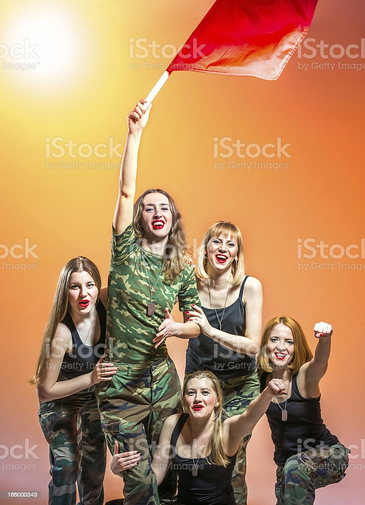 Freedom for women royalty-free stock photo
