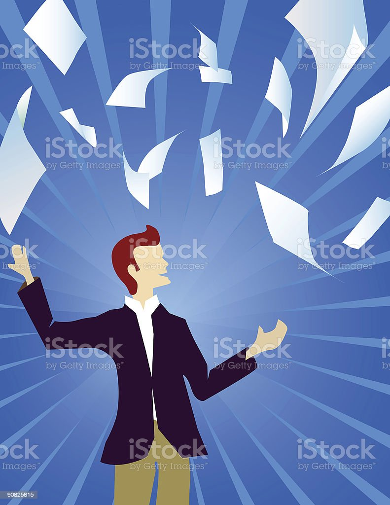 Freedom from paperwork royalty-free stock photo