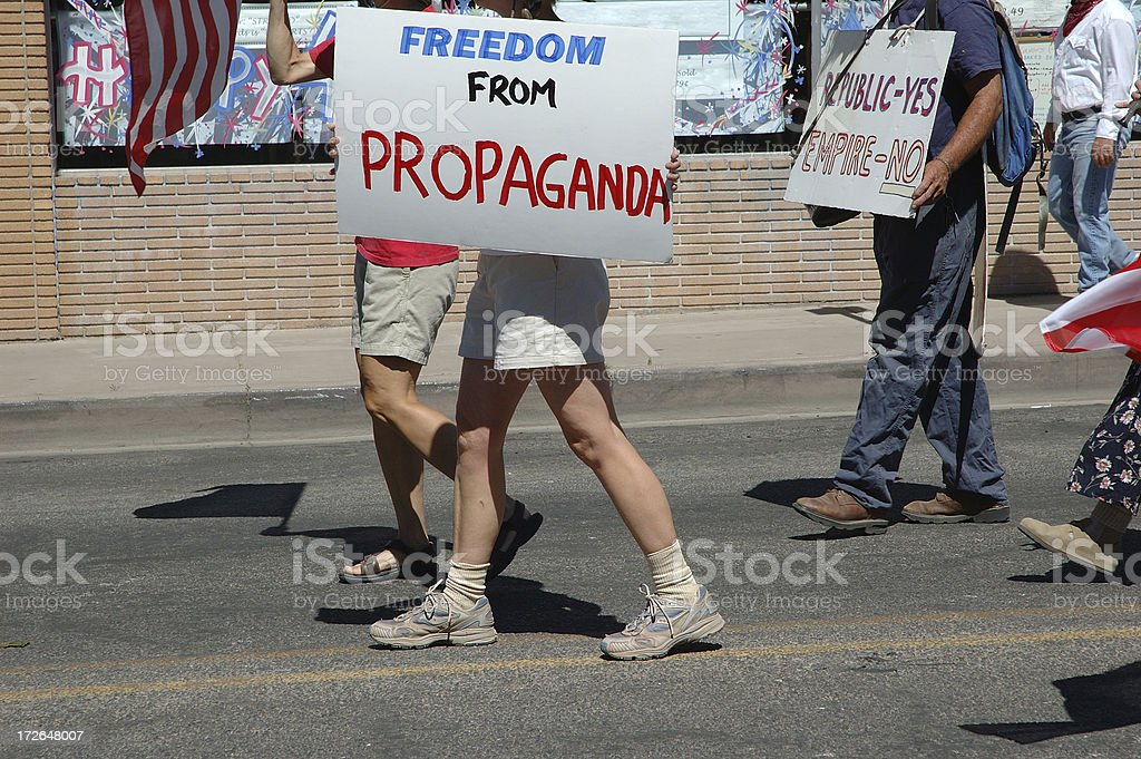 Freedom From Propaganda Protest royalty-free stock photo
