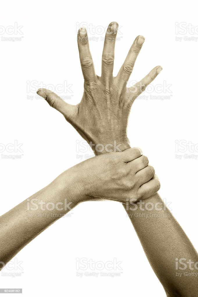 Freedom hands royalty-free stock photo